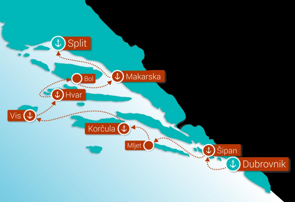 Crucero costa croata