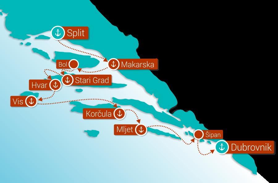Crucero por la costa croata